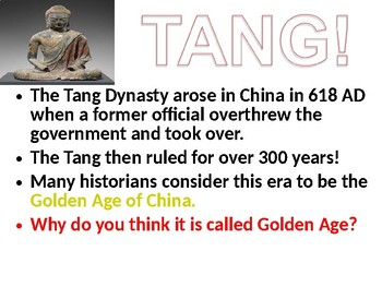 The Tang Dynasty of China Lesson