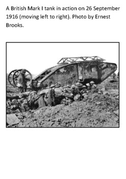 The Tank in World War One Handout