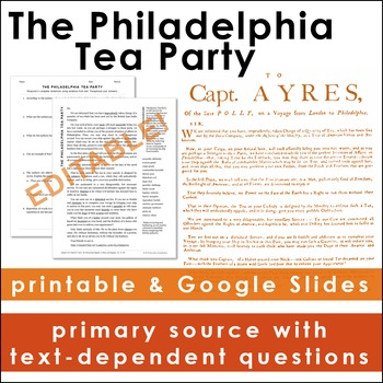 The Tea Act: The Philadelphia Tea Party