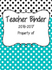 The Teacher Binder - Aqua and Gray Theme