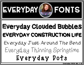 Everyday Font Pack One