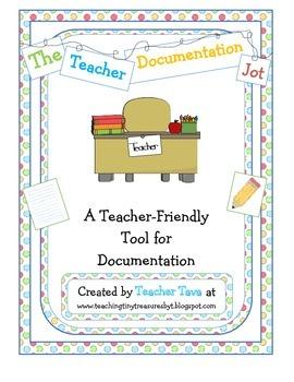 The Teacher Documentation Jot