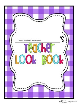 The Teacher Look Book/Notebook/ Binder Purple