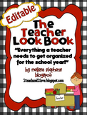 The Teacher Look Book/Notebook/ Binder Red and Black