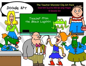 The Teacher Monster Clipart Pack