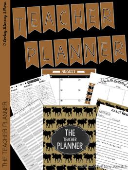 The Teacher Planner: Tan Moose Style 2016-2017