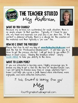 The Teacher Studio:  Professional Development and Coaching Brochure