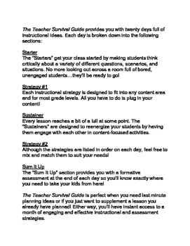 The Teacher Survival Guide