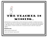 The Teacher is Missing: Super Easy (and Fun) Sub Plans
