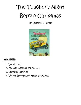 The Teacher's Night Before Christmas