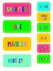 The Teacher's Toolbox Colorful Labels