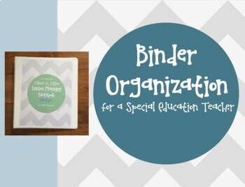 The Teacher's ULTIMATE Binder Organization *EDITABLE* Template