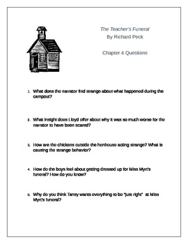 The Teacher's Funeral Novel Unit