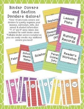 The Teacher's Planner: Editable Binders and More