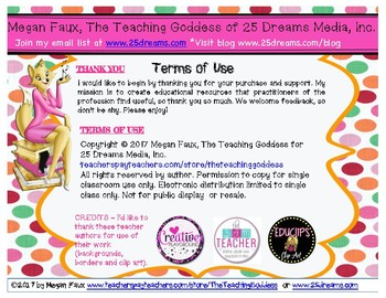 The Teaching Goddess' Discussion Rules Poster and Rules Reminder Cards
