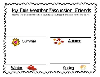 The Teaching Goddess' Discussion Role Task Cards w/Sentence Stems