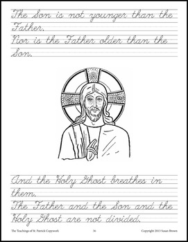 The Teachings of St. Patrick Copywork