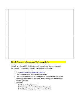 The Teenage Brain Infographic Assignment
