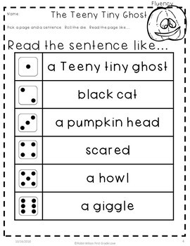 The Teeny Tiny Ghost First Grade Book Companion