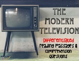 The Television and Modern TV Differentiated Leveled Text Reading Passages