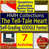 The Tell-Tale Heart 8th Grade HMH Collections 2 - Activities and Test -  HRW