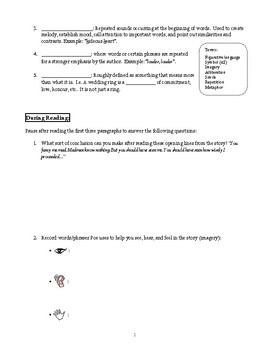 The Tell-Tale Heart: Before, During and After Reading Worksheet