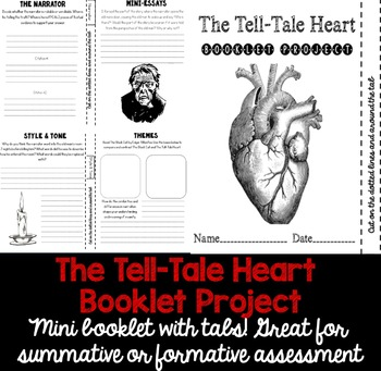 The Tell-Tale Heart Booklet Project With Tabs