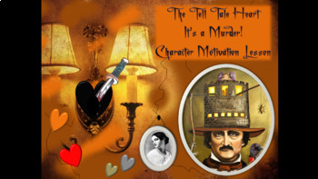 The Tell Tale Heart Character Motivation Lesson with PPT's and Video Clips