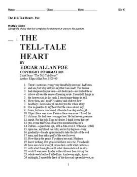The Tell Tale Heart - Edgar Allan Poe Story & Questions