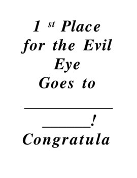 The Tell-Tale Heart & Evil Eye Contest
