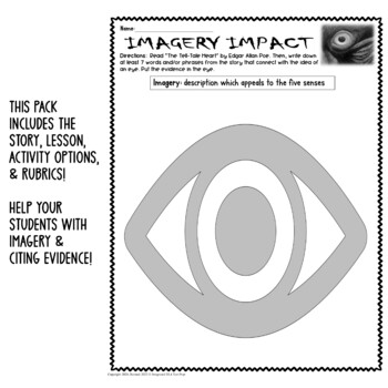 The Tell-Tale Heart Imagery Activity Graphic Organizer w/ Short Response