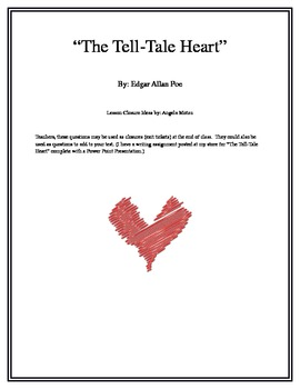 """""""The Tell-Tale Heart""""  Lesson Closures"""