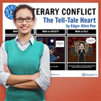 The Tell-Tale Heart: Literary Conflict Poster