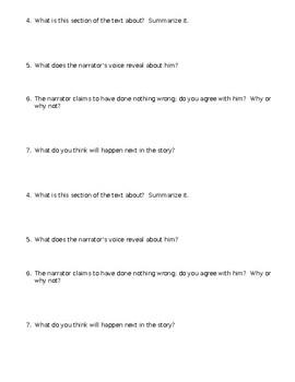 The Tell-Tale Heart Mini-Quiz