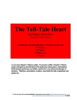 The Tell-Tale Heart Reader's Theatre script