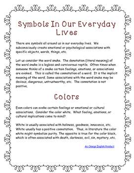 The Tell Tale Heart Symbolism Graphic Organizers and Activity