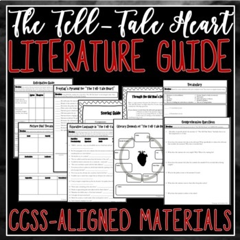 The Tell-Tale Heart and The Black Cat Literature Guides {{BUNDLE!}}