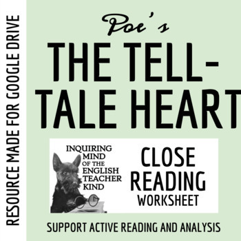 """The Tell-Tale Heart"" Guided Reading Packet - Edgar Allan Poe"