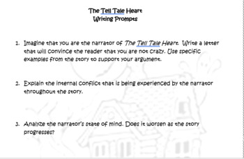 The Tell Tale Heart by Edgar Allan Poe Knowledge and Understanding Questions