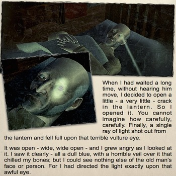 The Tell Tale Heart by Edgar Allan Poe - Comic Book