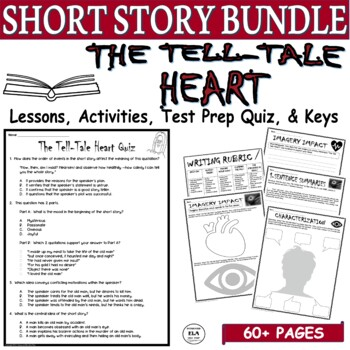 The Tell-Tale Heart by Poe: Common Core Reading Test Prep Lesson Pack
