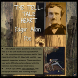 Tell-Tale Heart by Edgar Allan Poe (test; essay questions; detailed answer key)