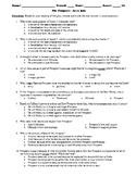 The Tempest 50-Question Multiple Choice Quiz Bundle or Test