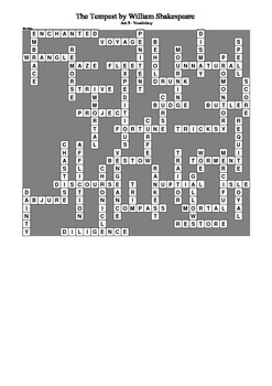 The Tempest - Act 5 Vocabulary Crossword