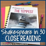 The Tempest Close Read - Shakespeare in 30