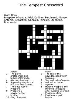 The Tempest Crossword