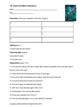 The Tempest (Shakespeare) Graphic Novel Guided Reading