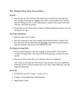 The Tempest Unit Plan