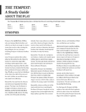 The Tempest Viewing Guide