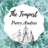 The Tempest Poetry Analysis Assessment